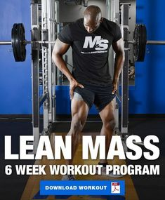 Lean Mass: 6 Week Workout Program to Build Lean Muscle The most common goal in the gym is to build lean muscle. Give this 6 week workout program to build lean muscle a try and absolutely crush that goal! Muscle Mass Workout, Lean Body Workouts, Weight Training Workouts, Muscle Building Workouts, Muscle Fitness, Mens Fitness, Fitness Exercises, Gain Muscle, Build Muscle Mass