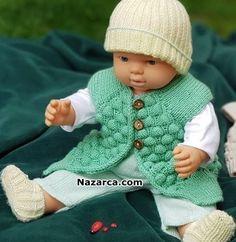 PASPAS OMUZLU BEBEK YELEĞİ MODELİ HEM DE TAM TARİFİ | Nazarca.com Baby Vest, Mavis, Baby Knitting Patterns, Crochet Hats, Model, Fashion, Knitting Patterns, Scrub Hats, Tejidos
