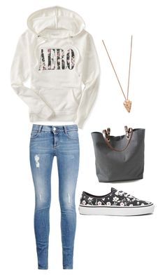 """Untitled #104"" by amna-hakeem on Polyvore featuring Aéropostale, STELLA McCARTNEY, Vans, Independent Reign and Pamela Love"