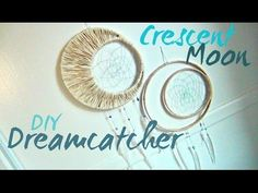 I hope you enjoy this little tutorial on how to make these beautiful crescent moon dreamcatchers! Get creative with the colors, materials, and what you adorn...