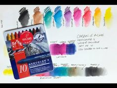 This is a look at the Caran d'Ache Neocolor II water-soluble crayons. You don't usually think of wax and water mixing together, but these do and they can be . Wax Crayon Art, Crayon Painting, Wax Crayons, Watercolour Tutorials, Watercolor Techniques, Watercolor Journal, Watercolour Art, Pastel Crayons, Art Tutor