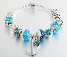 $17.96 silver coating charm bracelet,good gift check it in our store