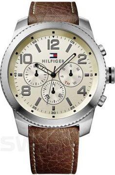 Miejski styl z odrobiną retro. #TommyHilfiger #brown #silver #watch #zegarek #stylish #butikiswiss #dlaniego #butiki #swiss
