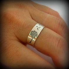 Hey, I found this really awesome Etsy listing at http://www.etsy.com/listing/157374044/dandelion-ring-dandelion-band-ring-band