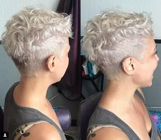 Undercut Curly Pixie for Older Women Grey Haircut