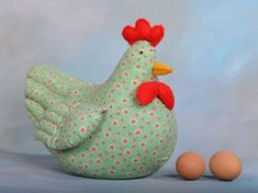 Sewn Chicken Doorstop. My grandma used to make these!