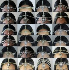 Handmade Kundan Stones Hair Head Chain Headpiece Head Jewellery Matha Patti | eBay
