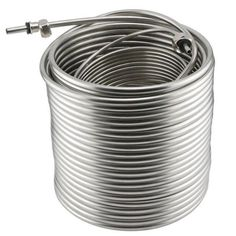 Stainless Steel Coil for Jockey Box - Length Beer Brewing Process, Beer Brewing Kits, Kegerator Conversion Kit, Bar Refrigerator, Home Brewing Equipment, Rubber Grommets, Glass Rack, 316l Stainless Steel