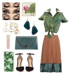 """Green"" by fllodeea ❤ liked on Polyvore featuring Valentino, Balenciaga, Janna Conner Designs, Valextra, Gianvito Rossi, Casetify, Smith & Cult and Pottery Barn"