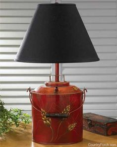 My lamp barn red country table lamp love love love it yea monroe lamp the country porch mozeypictures Images