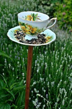 Cute garden bird feeder idea! http://media-cache2.pinterest.com/upload/129126714285830129_GPFSXzfI_f.jpg burnhamrel garden