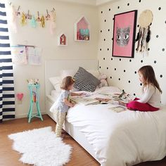 Love the dotty walls for a #kids #room