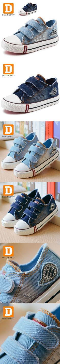 New Denim Jeans Leisure Kids Shoes 2017 Brand Canvas Breathable Anti Slipprry Casual Rubber Children Shoes Boys Girls Sneakers