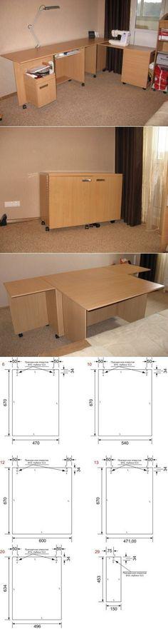 Картинки по запросу стол для швеи в квартире