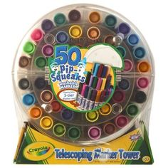 We got this for Rowan for christmas and it has been a HUGE hit - Crayola Telescoping 50 Pip Squeaks $14.99