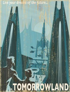 Giclee Printed Tomorrowland Attraction Poster by faisonstout