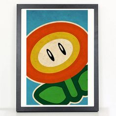 Mario Bros. FIre Flower Poster