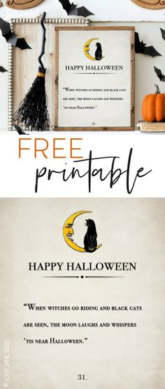 When Witches Go Riding Halloween free printable