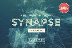 Synapse Textures Vol.1 by RuleByArt on @creativemarket