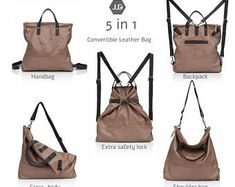 Walnut brown leather diaper bag Backpack 5 IN 1 Convertible bag mothers leather bag mom diaper backpack baby bag leather new mom gift judtlv