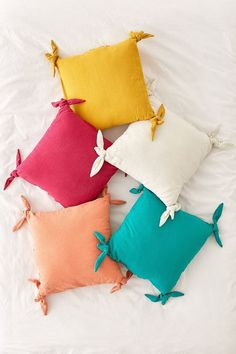 Shop Knotted Ties Throw Pillow at Urban Outfitters today. We carry all the latest styles, colors and brands for you to choose from right here. Cute Pillows, Diy Pillows, Decorative Pillows, Pillow Ideas, Cushions, Colorful Pillows, Cushion Cover Designs, Cushion Covers, Pillow Covers