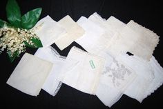 Vintage Hankie Pretties in White / by CheekyVintageCloset on Etsy, $34.50