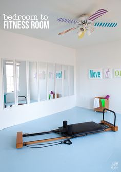 Make-over-a-bedroom-into-a-home-fitness-room-or-gym