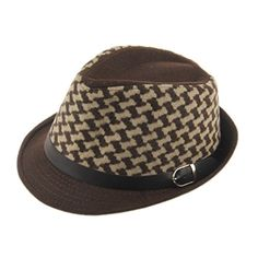 Elee Children Kids Worsted Flat Top Jazz Hat Trilby Fedora Hats Cap With Belt (Brown Grid) Elee http://www.amazon.com/dp/B00P4UY7EG/ref=cm_sw_r_pi_dp_1wLavb1HGPH41