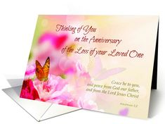 Remembrance 1st anniversary death of husband religious card death