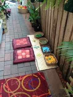 "A space to create outdoors at Puzzles Family Day Care ("",)"