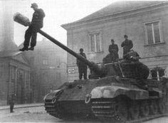 Young German Tank Crew playing with Kingtiger