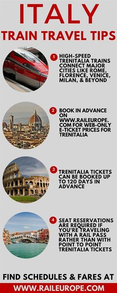 #Italy Train Travel Tips from Rail Europe, the European train travel experts! Some helpful tips if you want to ride the trains in Italy.  #italytravel