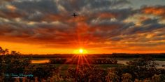 Sunrise at the Minneapolis St. Paul international airport