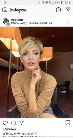 """How to style the Pixie cut? Despite what we think of short cuts , it is possible to play with his hair and to style his Pixie cut as he pleases. For a hairstyle with a """"so chic"""" and pointed… Continue Reading → Cute Bob Haircuts, Pixie Bob Haircut, Asymmetrical Bob Haircuts, Short Pixie Haircuts, Short Hair Cuts, Short Hair Styles, Pixie Cuts, Bob Hairstyles For Fine Hair, Medium Bob Hairstyles"""
