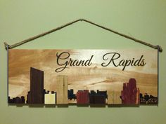 Grand Rapids City Skyline by TickyTembo on Etsy. you can custom ask for your own cities skyline! This is sweet!