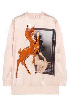 Givenchy|Bambi silk-satin sweatshirt|NET-A-PORTER.COM