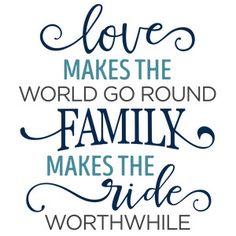 Silhouette Design Store: Love Makes The World Go Round Family Phrase