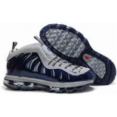 Nike Air Max Foamposite One navy blue/gray basketball shoes