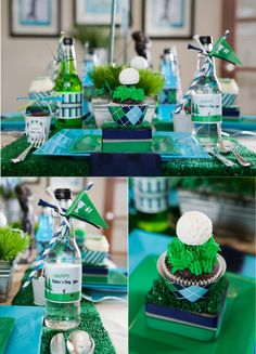 Golf PAR-TEE Ideas via Bird's Party Blog - love the cupcakes