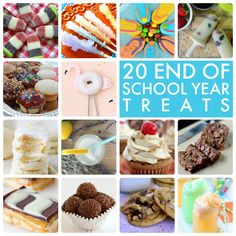 20 End of Year School Treats! So many great ideas for an end of the year party! -- Tatertots and Jello