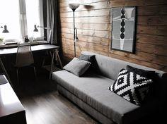 Wnętrza, Początek bardzo przemyślanego planu:-D - Pod oknem stanęło  biurko :-D Decor, Furniture, Room, Home, Guest Room, Couch