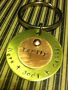 WIN! The Funky Monkey GIVEAWAY: Penny Whistle Jewels: Personalized Hand Stamped Family Key Chain - Ends 1/29/13