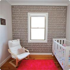 nursery rhyme background | Removable Wallpaper - Twinkle, Twinkle nursery rhyme. | DIY Projects