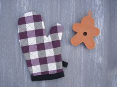 Oven Glove Apron And Glove Set Black & Purple Oven Mittens Heat Alluring Kitchen Mittens Review