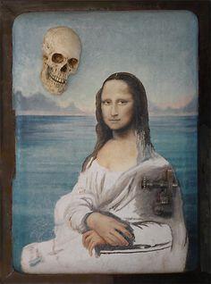 Mona in playa [Angel Ortiz] (Gioconda / Mona Lisa)