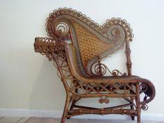 antique wicker seat