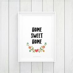 INSTANT DOWNLOAD WALL ART PRINTABLE  HOME SWEET HOME typography illustration perfect for home decor, nursery decor, baby girl and baby boy, printable quote, kids room, nursery art.  ------------------------------------------------------- ♡ INSTANT DOWNLOAD FEATURES: -------------------------------------------------------  You will receive 2 files: - 8x11 inches (A4 size) JPG high resolution 300 DPI - 11x16 inches (A3 size) JPG high resolution 300 DPI  If you want any other size, please…