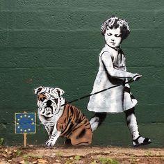 Banksy Inspired Street Art by UK Artist JPS. |FunPalStudio| Art, Artist, Artwork, Illustrations, Entertainment, beautiful, drawings, creativity, drawings, paintings, Street art, graffiti art, murals.