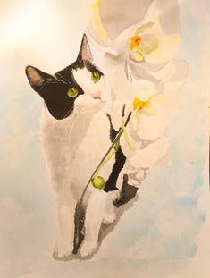 Sugar #art #watercolour #cat