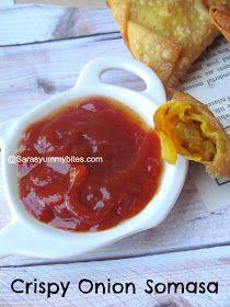 Crispy Onion Samosa Greek Yogurt Sauce, Indian Veg Recipes, Chaat Recipe, Crispy Onions, South Indian Food, Spring Rolls, Garam Masala, Cooking Time, Finger Foods